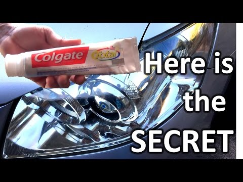 How to restore headlights with toothpaste (SECRET REVEALED)