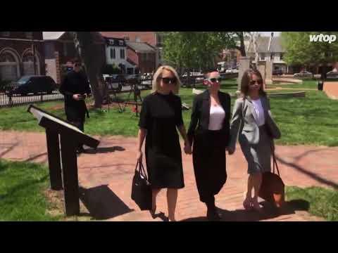 Rose McGowan returns to Loudoun County courthouse