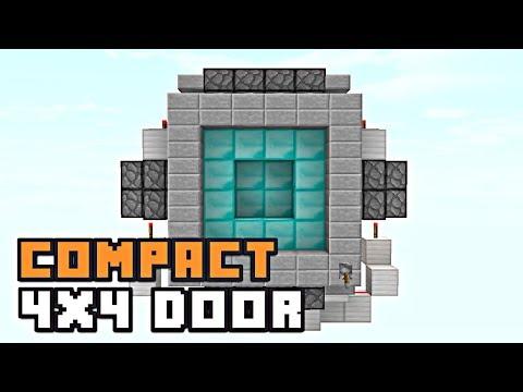 Minecraft: COMPACT 4X4 PISTON DOOR! [Redstone Tutorial]