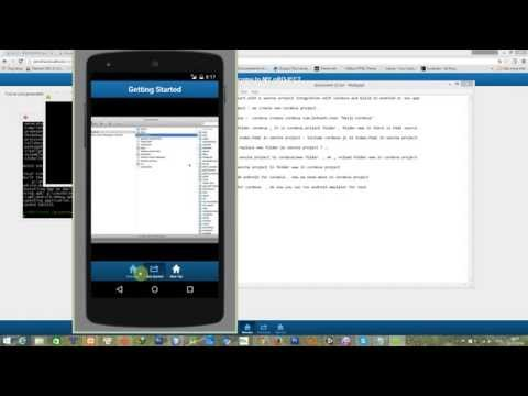 Start a sencha project and  build it to a cordova  project for android app or ios app (Part 2)