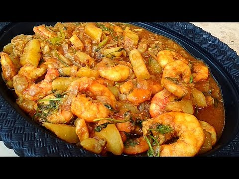 How To Clean And Cook Big Tiger Prawns Recipe Indian Village Style 2018
