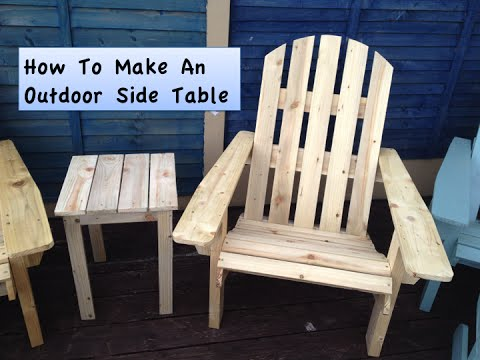 Outdoor Adirondack Style Side Table