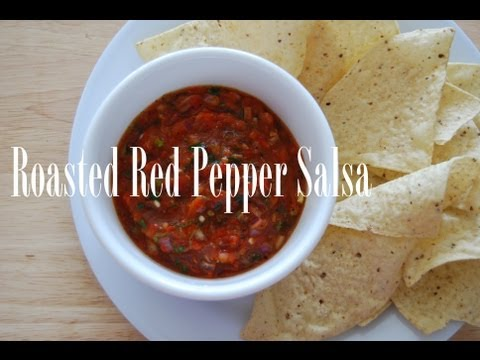 How to Make Roasted Red Pepper Salsa ❦