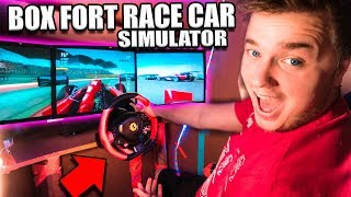 $30,000 BOX FORT Race Car SIMULATOR Challenge! 📦🚗