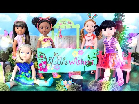 Doll Review: TOYS - AMERICAN GIRL WELLIE WISHERS - plus Playhouse - 4K