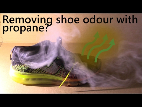 Using propane gas to remove foot odour from shoes? Ask a Scientist Show 1.4