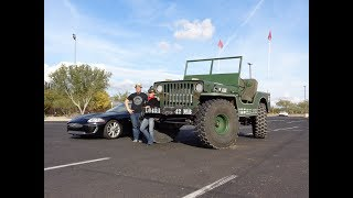 BIG WILLY Biggest Jeep Ever Built 1942 Willys MB & Engine Sound - My Car Story with Lou Costabile