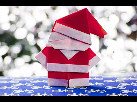 How to make a paper santa claus origami