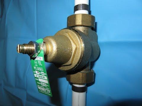 Water Pressure Regulator Replacement and Adjustment