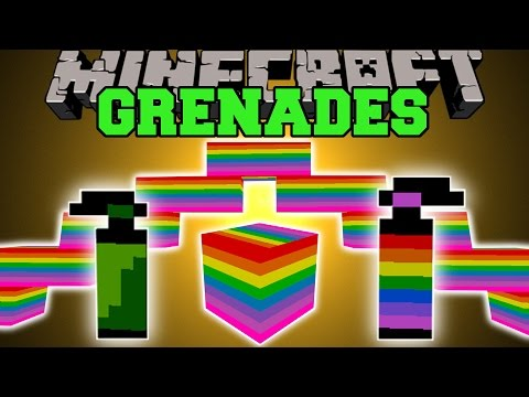 Minecraft: SPECIAL GRENADES (BLACK HOLES, NUCLEAR EXPLOSIONS, RAINBOWS, & MORE!) Mod Showcase