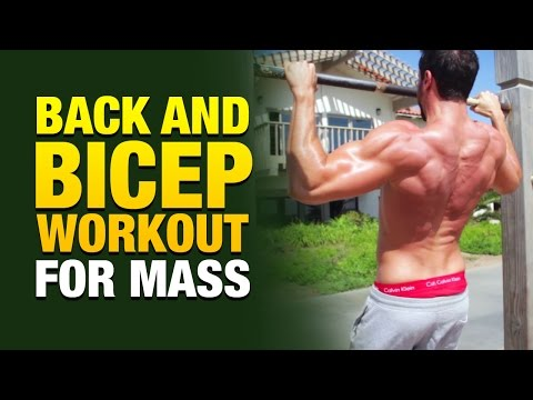 Back And Biceps Workout For Mass (All You Need Is A Pull-Up Bar)