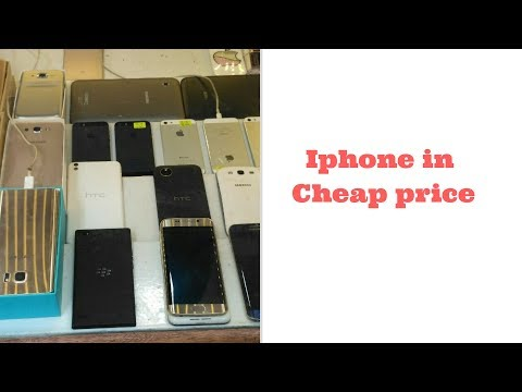 Biggest Used Mobile Market in Pakistan  iphones in cheap price vlog#11