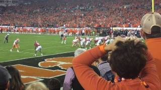 Clemson fans react to winning touchdown vs Alabama
