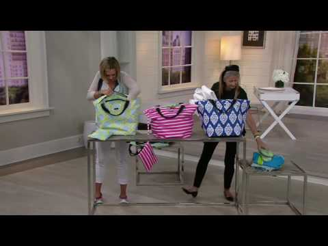 SCOUT Weekender Zip Bag and Zip Pouch on QVC