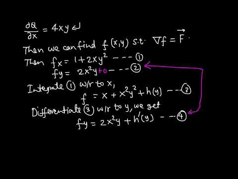 Calc III: Fundamental Theorem of line integral example 2/4