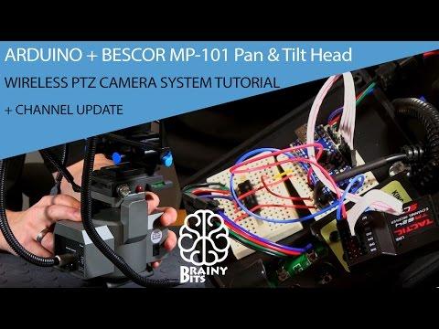Arduino + Bescor MP-101 Pan & Tilt Head = Wireless PTZ Camera System!