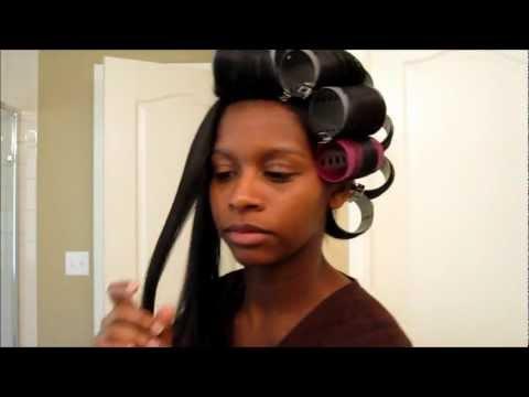 Natural Hair: Roller Setting Straight Natural Hair