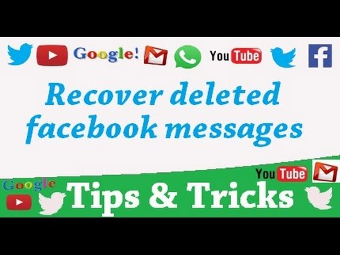 How to find or recover deleted facebook messages