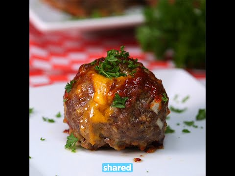 Mac and Cheese Stuffed Meatballs