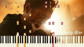 Avengers: Infinity War - Sad Theme | Piano Tutorial (Synthesia)