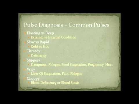 Pulse Diagnosis Examples - Thready and Slippery - Diagnostic Methods in Chinese Medicine