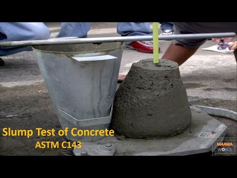 Slump Test of Concrete ASTM C143 [Urdu/Hindi] By Maawa World