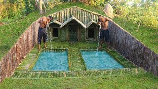Build House Under The Wood roots & Add Two Swimming Pool