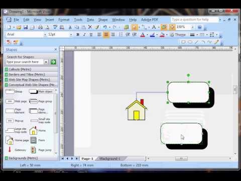 Belajar Visio 2007   membuat konsep website