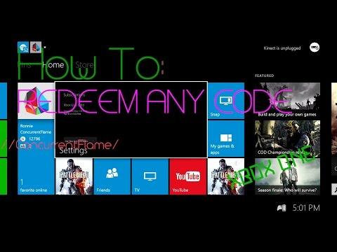 2-Ways to redeem ANY Xbox Live code ON XBOX ONE