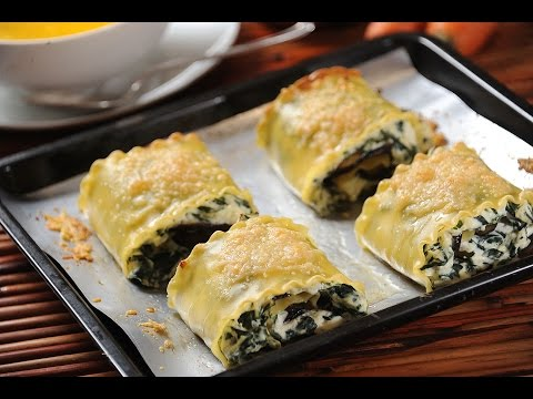 Ricotta, spinach and eggplant lasagna