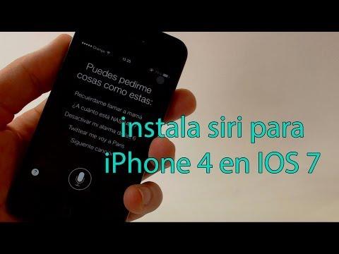 instalar siri para iPhone 4 IOS 7 2014 español