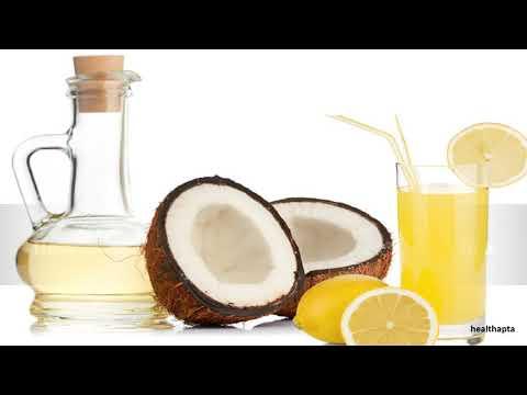 Coconut Oil and Lemon Juice for Dandruff
