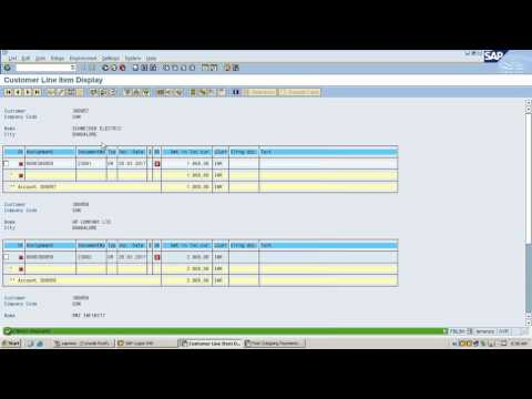 SAP Vendor and Customer Open Items Manual Clearing || Live Demo in System