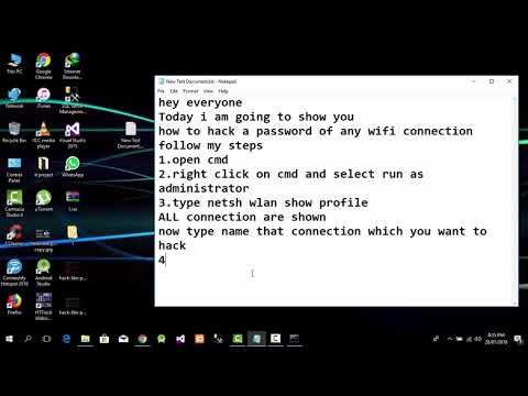 How to hack WIFI PASSWORD with using CMD windows 10  200% working