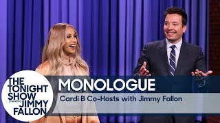 Co-Host Cardi B Tells Jokes In Jimmy