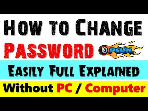 How to Change Miniclip 8 Ball Pool Account Password