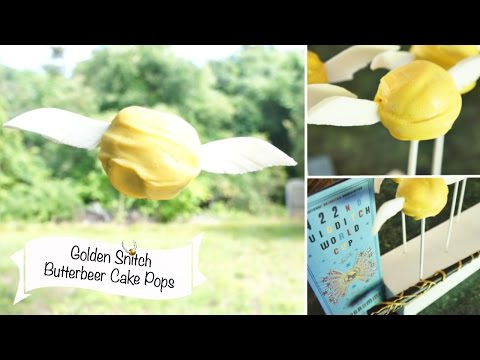 Golden Snitch Cake Pops!