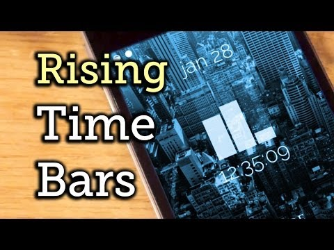 Change the iOS 7 Lock Screen Time & Date Format to a Bar Chart Theme [How-To]