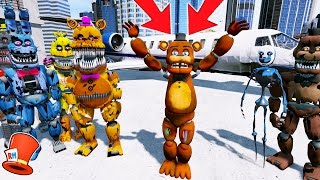 NIGHTMARE ANIMATRONICS SAVE WITHERED FREDDY! (GTA 5 Mods For Kids FNAF Funny Moments) RedHatter