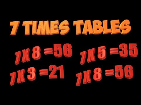Multiplication Song: 7 times tables