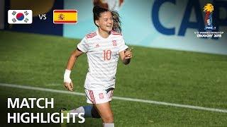 Korea Republic v Spain  - FIFA U-17 Women's World Cup 2018™ - Group D