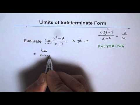 Factor Rational Function and then Simplify to Get Indeterminate Limit Graph