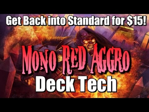 Mtg Budget Deck Tech: $15 Mono-Red Aggro in Amonkhet Standard!