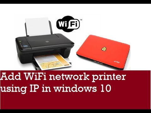 How to setup WiFi network printer in windows 10 using IP address 2017 | Easy Method | 100% worked