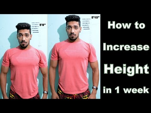 How to Increase Height in 1 Week (Men & Women) Naturally