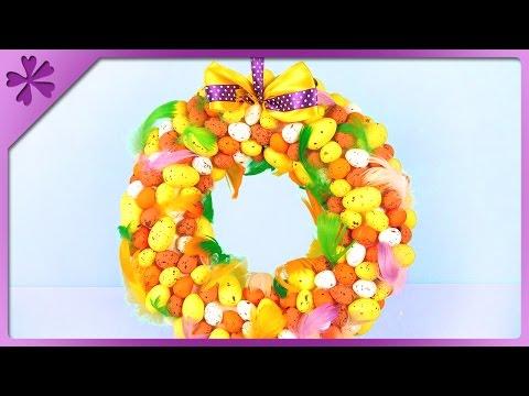DIY Easter egg wreath (ENG Subtitles) - Speed up #318