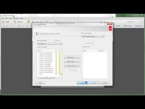 Adobe Acrobat XI: Convert DWG to PDF without AutoCAD
