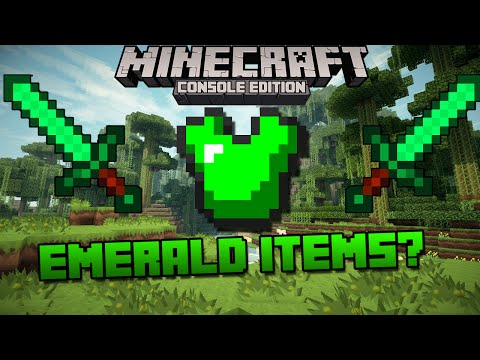 Minecraft Xbox & Playstation: Emerald Items Seen in Screenshot? | Coming to Console? [Investigation]