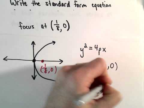 Conic Sections, Parabola : Find Equation of Parabola Given the Focus