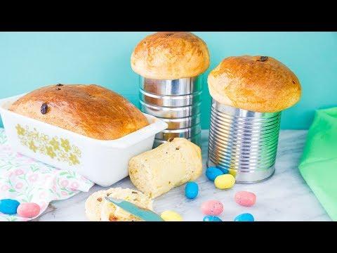 Ukrainian Easter Bread Babka or Paska
